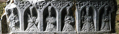 Photograph - Jerpoint Abbey Irish Tomb Weepers Saints County Kilkenny Ireland by Shawn O'Brien