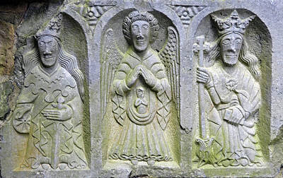 Photograph - Jerpoint Abbey Weepers Saints Catherine Michael And Margaret County Kilkenny Ireland by Shawn O'Brien