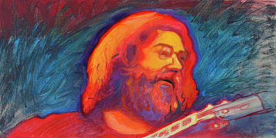Musician Framed Painting - Jerry 4 by Pam Baker