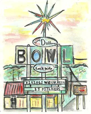 Painting - Jerry Dutler's Bowl by Matt Gaudian