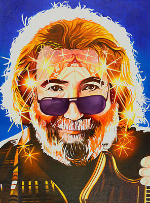Jerry Garcia Painting - Jerry Garcia-dark Star by Joshua Morton