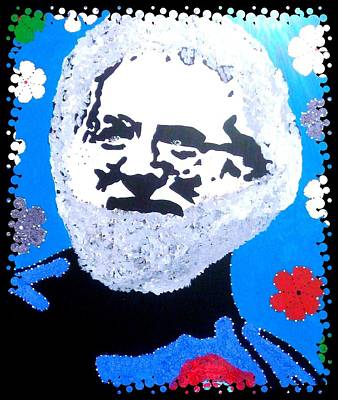 Einstein Drawing - Jerry Garcia In Full View by Robert Margetts