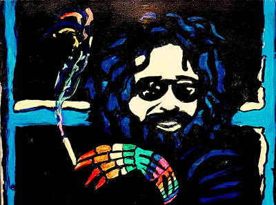 Painting - Jerry Garcia Interview by Gayland Morris