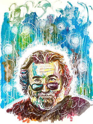 Painting - Jerry Garcia by Joel Tesch