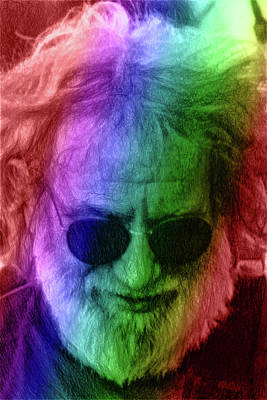 Digital Art - Jerry Garcia by John Haldane