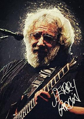 Jerry Garcia Band Digital Art - Jerry Garcia by Taylan Apukovska