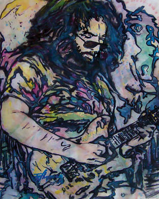 Jerry Garcia Drawing - Jerry Garcia by Thaddeus Chapman