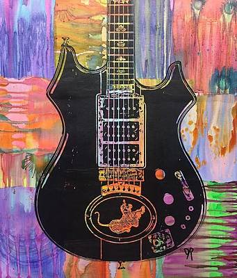 Mixed Media - Jerry Garcia Tiger by Dean Russo