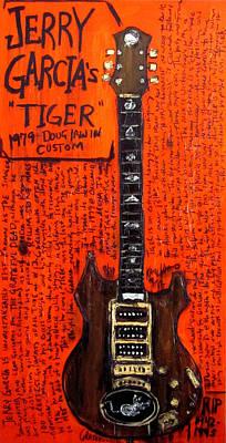 Guitar Painting - Jerry Garcia Tiger by Karl Haglund