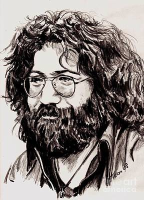 Drawing - Jerry Garcia by Toon De Zwart