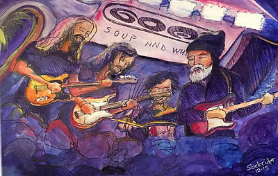 Art Print featuring the painting Jerry Joseph And The Jackmormons by David Sockrider