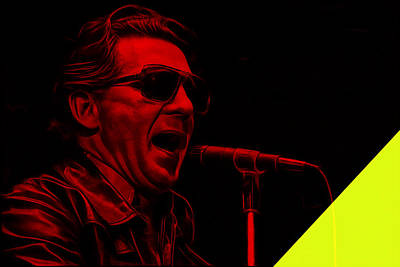Jerry Lee Lewis Collection Art Print by Marvin Blaine