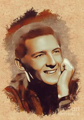 Lewis Painting - Jerry Lee Lewis, Music Legend by Mary Bassett