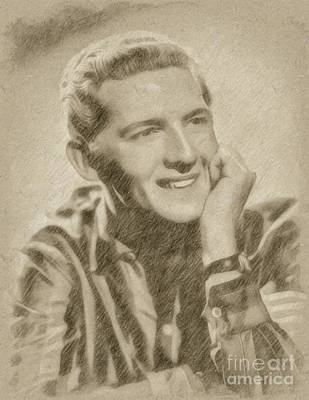 Singer Drawing - Jerry Lee Lewis, Singer by Frank Falcon