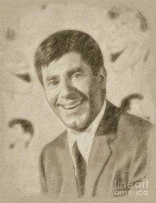 Jerry Lewis, Actor And Comedian Art Print