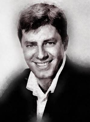 Television Painting - Jerry Lewis By John Springfield by John Springfield