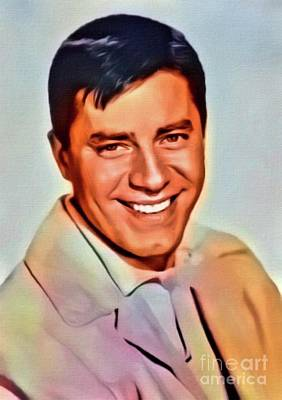 Business Digital Art - Jerry Lewis, Hollywood Legend. Digital Art By Mb by Mary Bassett