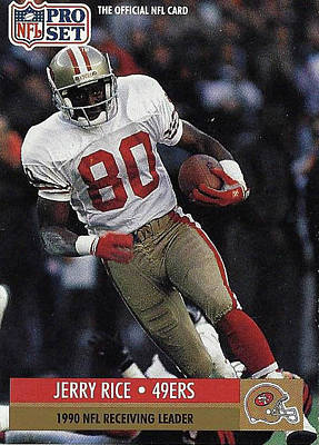 Photograph - Jerry Rice Receiving Leader 49er's by Jay Milo