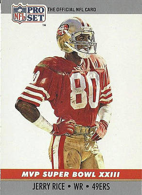 Photograph - Jerry Rice Wide Receiver Number 80 by Jay Milo