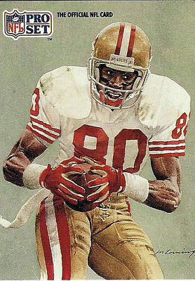 Photograph - Jerry Rice Wide Receiver San Francisco 49er's by Jay Milo
