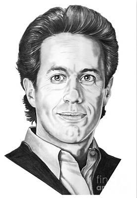 Famous People Drawing - Jerry Seinfeld by Murphy Elliott