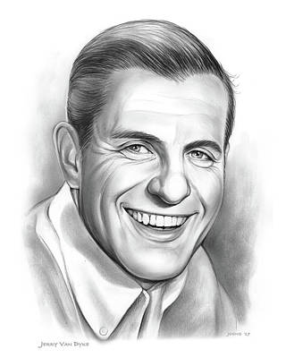 Drawing - Jerry Van Dyke by Greg Joens