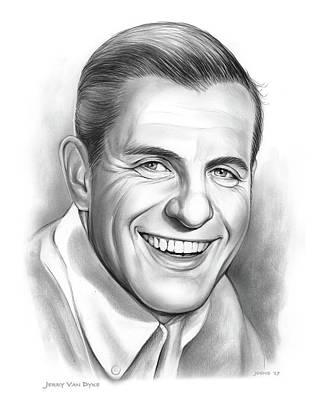 Drawings - Jerry Van Dyke by Greg Joens