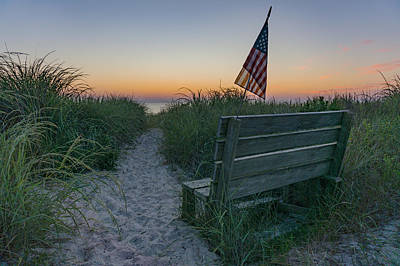 Photograph - Jerry's Bench by Brad Wenskoski