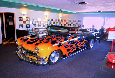 Photograph - Jerry's Hot Rod Grill 002 by George Bostian