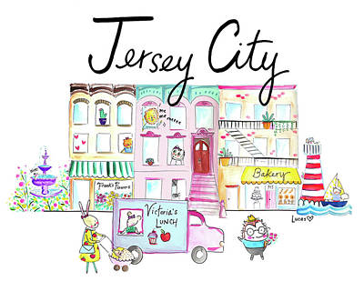 Cities Painting - Jersey City by Ashley Lucas