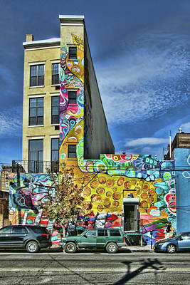 Photograph - Jersey City Mural # 10 by Allen Beatty