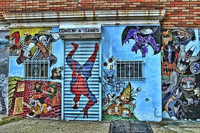 Photograph - Jersey City Mural # 11 by Allen Beatty