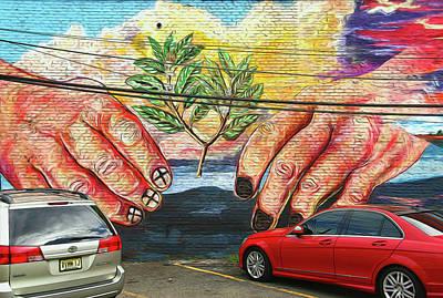 Photograph - Jersey City Mural # 13 by Allen Beatty