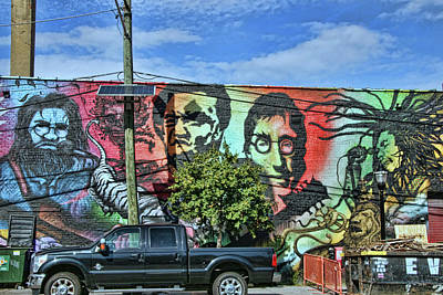 Photograph - Jersey City Mural # 20 by Allen Beatty