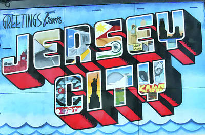 Photograph - Jersey City Mural # 23 by Allen Beatty