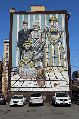 Photograph - Jersey City Mural # 25 by Allen Beatty