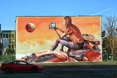 Photograph - Jersey City Mural # 26 by Allen Beatty