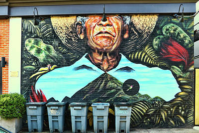 Photograph - Jersey City Mural # 27 by Allen Beatty