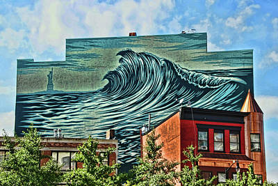 Photograph - Jersey City Mural # 35 by Allen Beatty