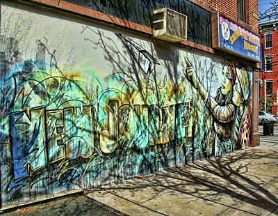 Photograph - Jersey City Mural # 8 by Allen Beatty
