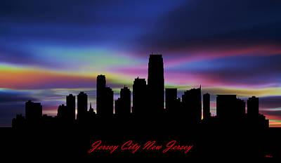 Etc. Digital Art - Jersey City New Jersey Skyline Sunset by Gregory Murray