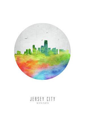 New Jersey Digital Art - Jersey City Skyline Usnjjc20 by Aged Pixel