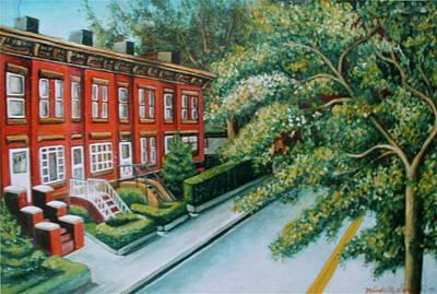 Art Print featuring the painting Jersey City Street by Melinda Saminski