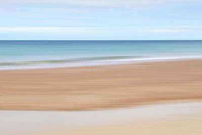Photograph - Jersey Coast Seascape Abstract by Gill Billington
