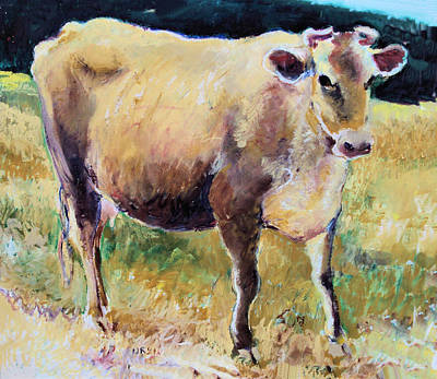 Painting - Jersey Cow  Sweet Girl by Diane Ursin