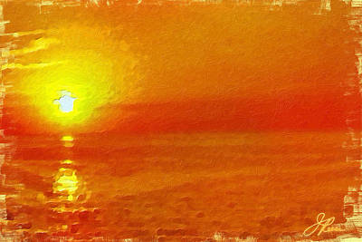 Painting - Jersey Orange Sunrise by Joan Reese