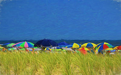 Photograph - Jersey Shore 18 - Digital Painting by Allen Beatty