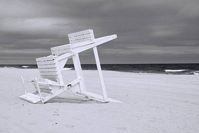 Photograph - Jersey Shore 2 - B And W by Allen Beatty