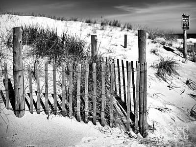 Photograph - Jersey Shore Dune Fence by John Rizzuto