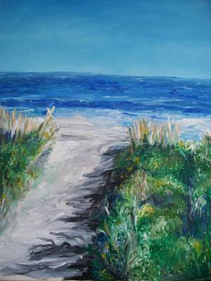Drawing - Jersey Shore Dunes  by Eric  Schiabor